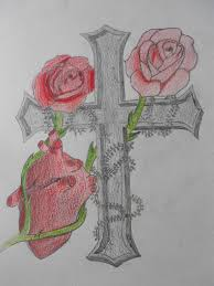 rose cross tattoo design by undeadmith on deviantart