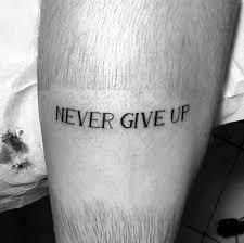 60 strength tattoos for men masculine word design ideas