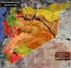Where Is Syria On A Map by Map Military Situation In Syria On September 17 2016