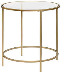 sauder coffee and end tables amazon com sauder international lux round end table in satin gold