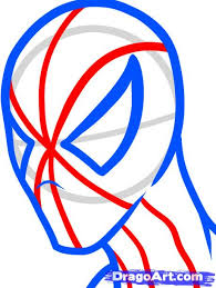 easy spiderman face drawings