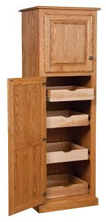 Kitchen Cabinet Rolling Shelves Amish Country Traditional Kitchen Pantry Storage Cupboard Cabinet