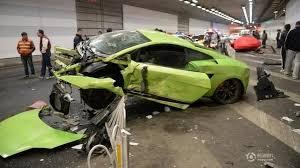 458 lamborghini aventador 458 spider and lamborghini gallardo superleggera destroyed