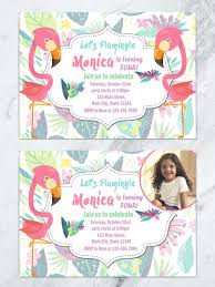 pink birthday invitations flamingo kids birthday invitation let u0027s flamingle invitation