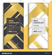 organic dark milk chocolate bar design stock vector 572394916