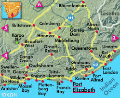 j bay south africa map accommodation in the eastern cape province along the garden route