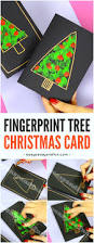 fingerprint christmas tree card christmas tree craft and