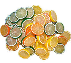 Fruit Decor For Kitchen Amazon Com Yonger Lemon Slice 5 Pack Fake Food Home U0026 Kitchen