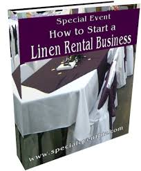 linens rental how to start a linen rental business