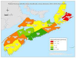 Map Of Nova Scotia Nova Scotia Department Of Finance Statistics