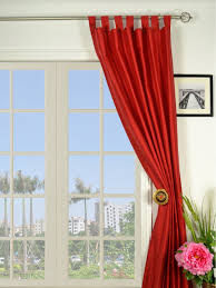 Solid Color Curtains Oasis Solid Color Tab Top Dupioni Silk Curtains
