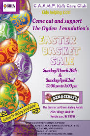 easter baskets for sale c a a m p kids care club easter basket sale