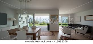 modern apartment living room kitchen 3d stock illustration