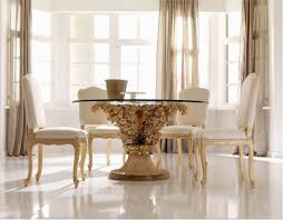 Round Glass Dining Table With Wooden Legs Elegant Dining Tables Zamp Co