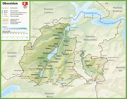 Autobahn Germany Map by Canton Of Obwalden Map With Cities And Towns