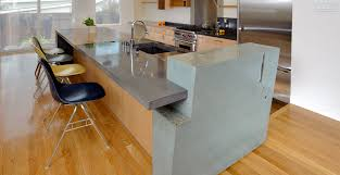 kitchen island wall concrete kitchen island and countertop cheng concrete exchange