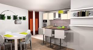cuisine ouverte avec bar sur salon cuisine ouverte avec bar collection et decoration salon avec cuisine