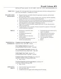 triage nurse resume cover letter example nursing samples for new