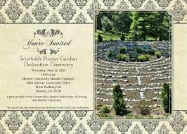 invitation to mercer u0027s interfaith prayer garden unveiling