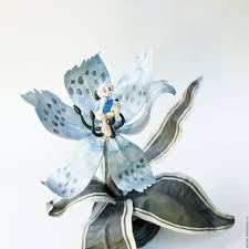 Home Interior Figurines Buy Thumbelina On The Flower Figurine On Livemaster Online Shop