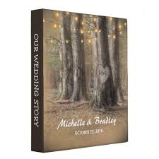 Rustic Photo Album Rustic Tree U0026 String Lights Wedding Story Album 3 Ring Binder