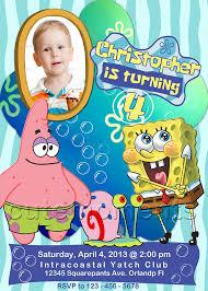 spongebob squarepants invitations 28 images spongebob