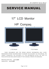 download free pdf for hp fp7317 monitor manual