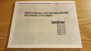service manual for brother knitting machine kh 864 868 894 kr