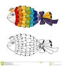 rainbow fish coloring royalty free stock image image 35648906