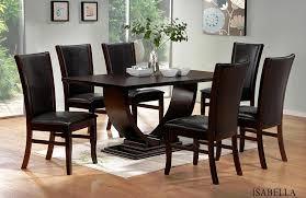 Simple Black Dining Room Sets Stunning Wood Chairs Throughout - Black wood dining room set