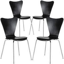 set of 4 arne jacobsen style series 7 elgin side chair u2013 poly bark