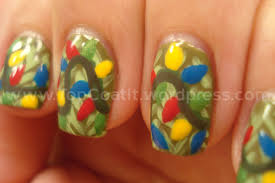 Christmas Light Nails by Nail Art Top Coat It Page 59