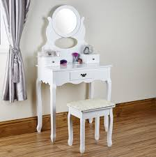 Shabby Chic Vanity Table Round Mirrored Dressing Table From Abreo Abreo Home Furniture