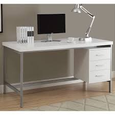 60 Office Desk White And Silver Metal 60 Inch Office Desk Free Shipping Today