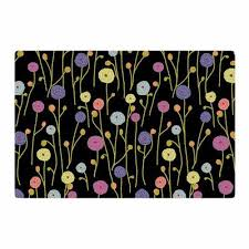 Yellow Area Rug 4x6 East Urban Home Laura Nicholson Ranunculus On Black Floral Yellow