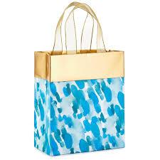 gift bags watercolor raindrops small gift bag 6 5 gift bags hallmark