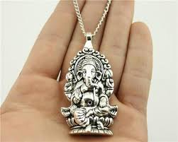 pendant necklace lengths images Attractive silver ganesha pendant necklace 6 necklace lengths jpg
