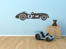contemporary kid bedroom decoration using race car room decors