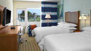 miami beach accommodations double bed guest room four points