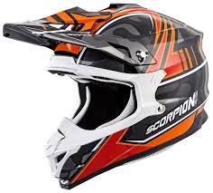 orange motocross helmet scorpion vx 35 miramar helmet revzilla
