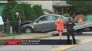 police chase ends when car crashes into north braddock home wpxi