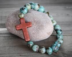 cross beads bracelet images Bead cross bracelet etsy jpg