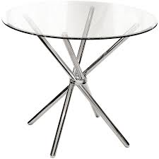 round glass top 88cm dining table febland criss cross tempered