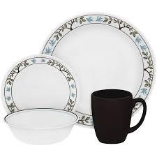 mainstays 12 square glass dinnerware set walmart