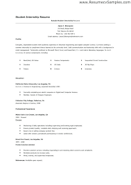 computer science resume template sle student resume for internship grad school resume templates