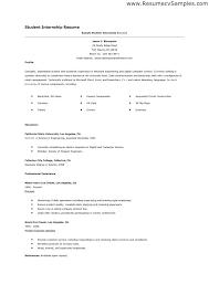 high student resume for internship sle student resume for internship resumes for internships