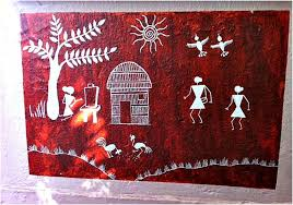 Warli Art Simple Designs Kids Craft Warli Art With Potato Stamps