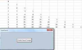 vba for excel 2007 tutorial print a pascal triangle