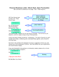 Form Business Letter by Parts Of A Personal Business Letter The Letter Sample