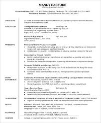 Resume Samples For Mechanical Engineers by First Job Resume 7 Free Word Pdf Documents Download Free